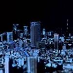 3D-Projektormapping auf Modell von Tokio