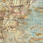 Weltkarte des Internets