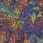 Städte nach Ausrichtung ihrer Straßen bunt visualisiert