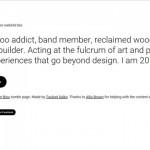 Designer-Schnellschuss-Biografie-Generator